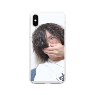 酔っ払いの自撮り写メで作ったアイテム Soft clear smartphone cases