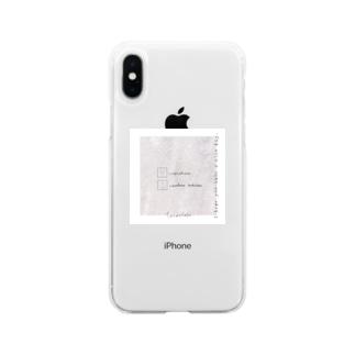 大理石*うさぎ Soft clear smartphone cases