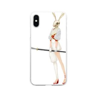 檸檬e楼のヤツメウサギちゃん Soft clear smartphone cases