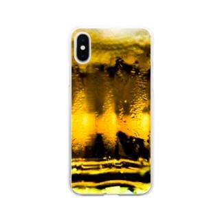 キンッキンに冷えた生ビール Soft clear smartphone cases
