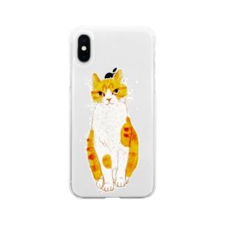 kobonona2のいとしのみーたろ Soft clear smartphone cases