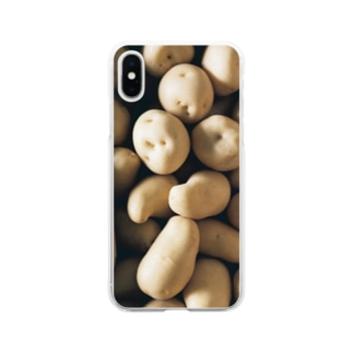 harucameraのharucamera ジャガイモ Soft clear smartphone cases