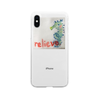 relieve.ーほっとひといき Soft clear smartphone cases