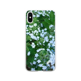 紫陽花 みずいろ Soft clear smartphone cases