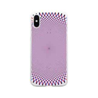 KAERUCAFE SHOPの錯視 Soft clear smartphone cases