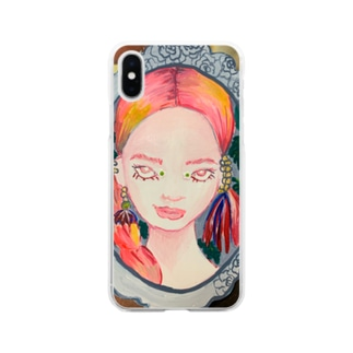 𝚁𝚒𝚛𝚒のRED HAIR Soft clear smartphone cases