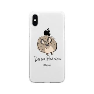 suzioinuのDEBUハイエナ Soft clear smartphone cases