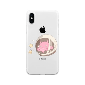 宇宙たこ Soft clear smartphone cases