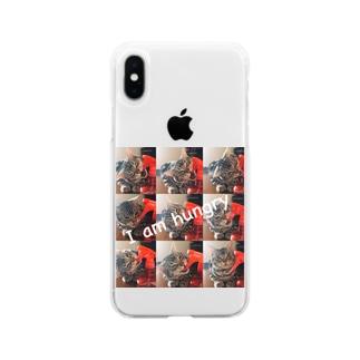 猫のロズ君 Soft clear smartphone cases