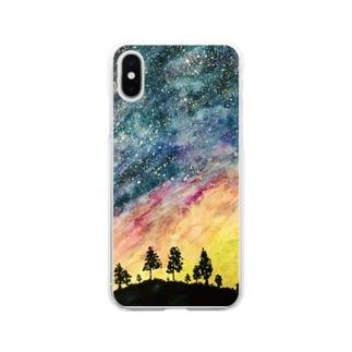 星空 Soft clear smartphone cases