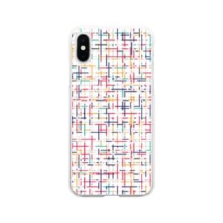 幾何学模様2 Soft clear smartphone cases