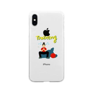Training girl  Soft clear smartphone cases