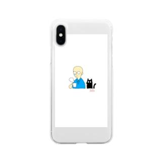 湯気 Soft clear smartphone cases
