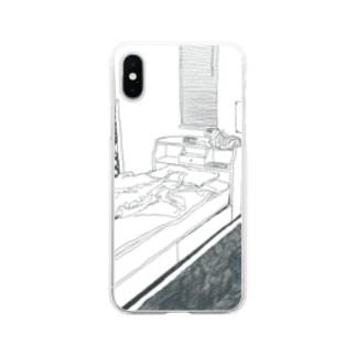 6畳の巣穴 Soft clear smartphone cases