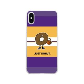 ジャストドーナツ Soft clear smartphone cases