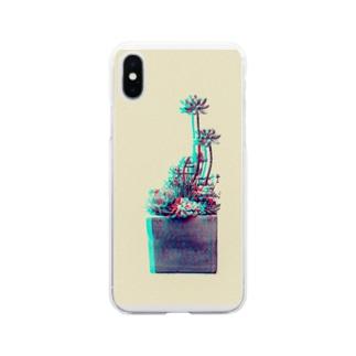 多肉植物 乙女心 スペクトル Soft clear smartphone cases