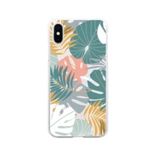 トロピカル2 Soft clear smartphone cases