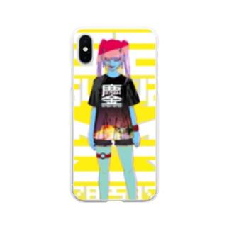 みなごろしちゃん_001 Soft clear smartphone cases