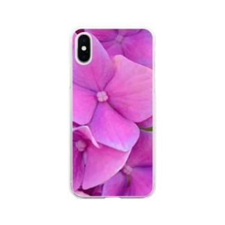 nyonyum☻の紫陽花。 Soft clear smartphone cases