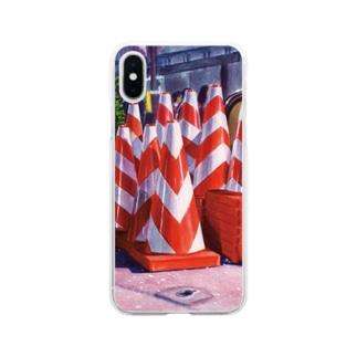 夜桜カラーコーン Soft clear smartphone cases