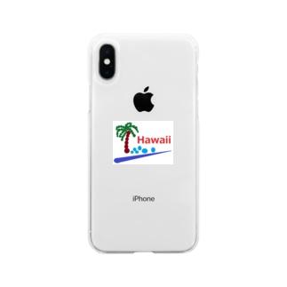 アメリカンベースのハワイ あわあわ Soft clear smartphone cases