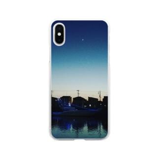 宵の明星 Soft clear smartphone cases