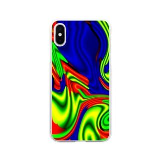タカハシのボワワワワワワワ Soft clear smartphone cases