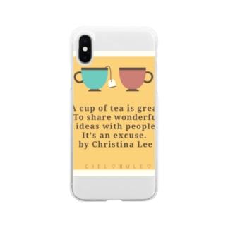 ciel♡bule♡ Soft clear smartphone cases