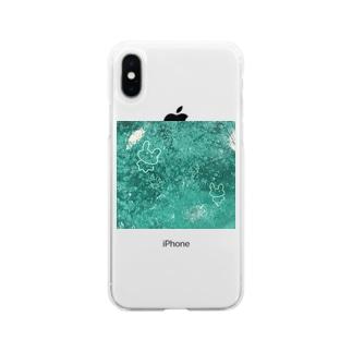 しゅわしゅわゆるうさちゃん Soft clear smartphone cases