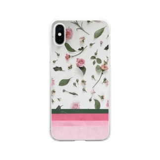 pink rose Soft clear smartphone cases