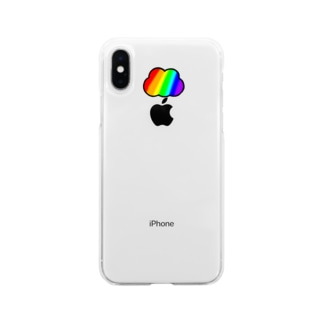 にじぐも Soft clear smartphone cases