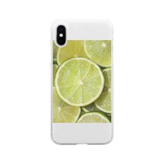 ライム-Lime Soft clear smartphone cases