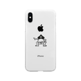 相撲 後ろ姿 Soft clear smartphone cases