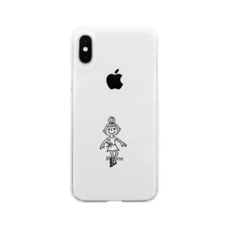 バレエ 女の子 Soft clear smartphone cases