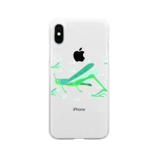 サバクトビバッタ 孤独相 群体・蝗害  Soft clear smartphone cases