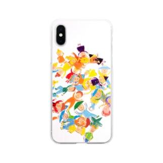 プラ板バラバラ Soft clear smartphone cases