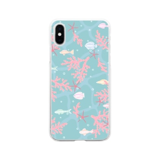 coral sea Soft clear smartphone cases