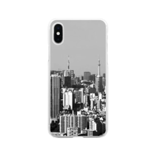 東京のタワー Soft clear smartphone cases