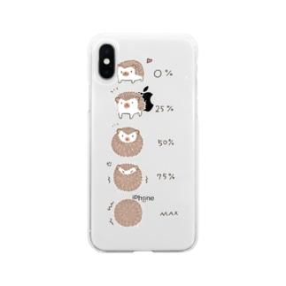 ハリネズミさんのご機嫌ナナメ度 Soft clear smartphone cases