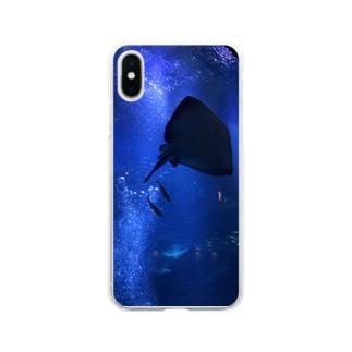 アクアリウム Soft clear smartphone cases