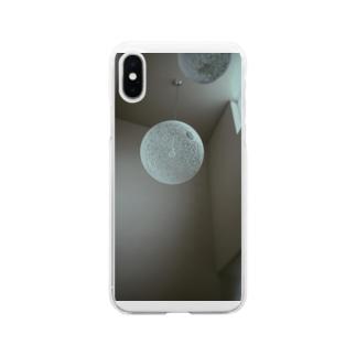 病院の天井 Soft clear smartphone cases