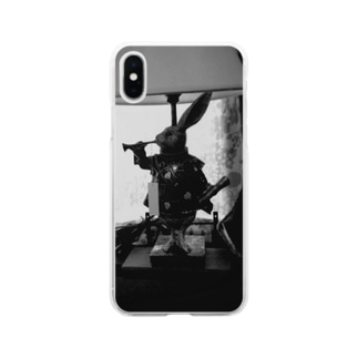 喫茶店の置物 Soft clear smartphone cases
