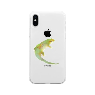つむひのヒルヤモリ Soft clear smartphone cases
