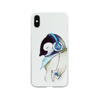 まなつ&まふゆのmusic pen case Soft clear smartphone cases
