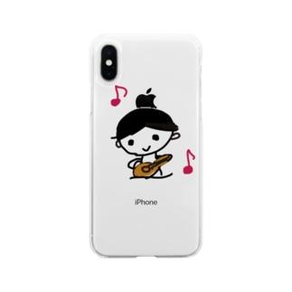 ウクレレぼうや Soft clear smartphone cases
