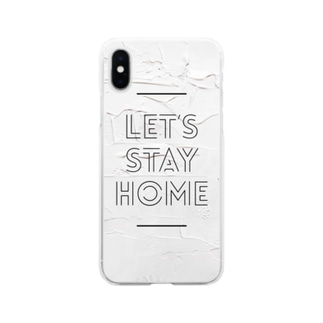 Let's stay home  Soft clear smartphone cases