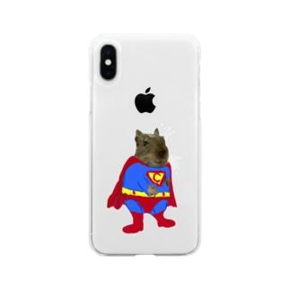 チョビーマン Soft clear smartphone cases