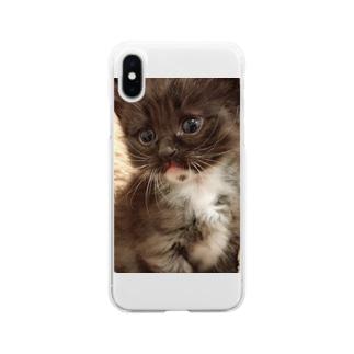 ゴマくん Soft clear smartphone cases