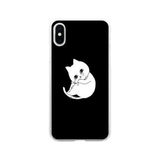 ぽろぽろネコ Soft clear smartphone cases