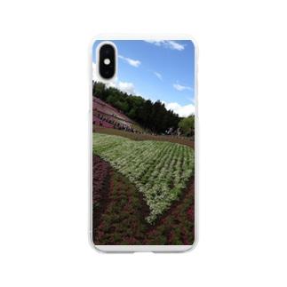 秩父の芝桜 Soft clear smartphone cases